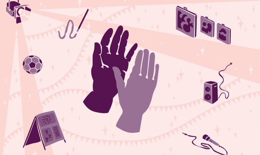 Två händer applåderar