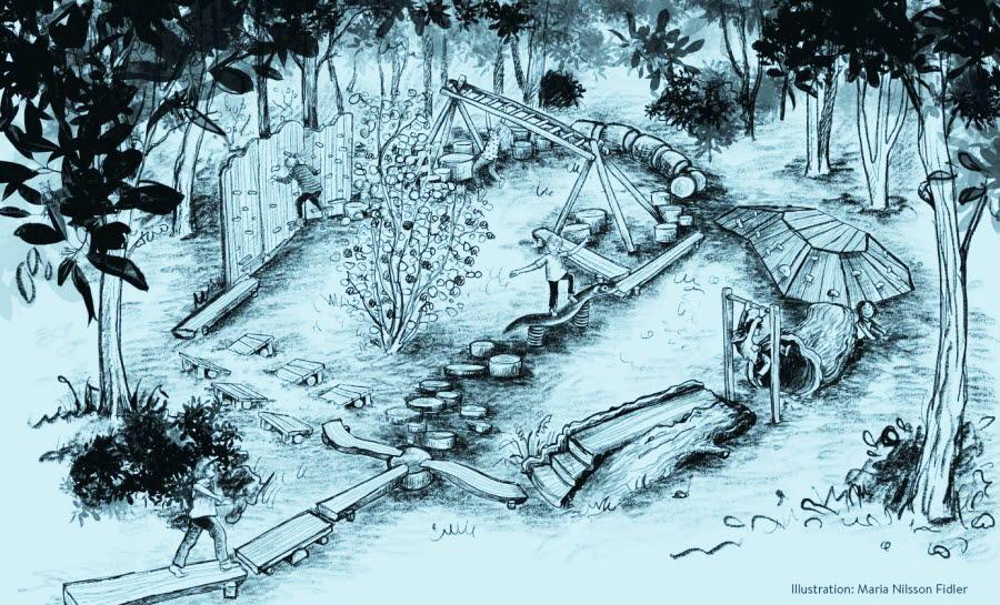 illustration av klimatleken